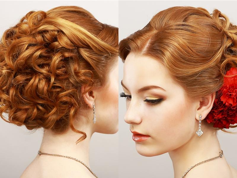 49 Elegant Prom Hairstyles For Curly Hair Women | Hairstylo in Elegant Messy Updo Hairstyles On Curly Hair