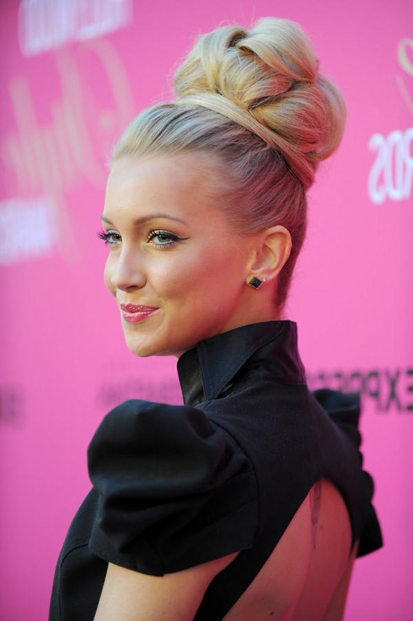 49 Pretty Hair Bun Hairstyles For Women | Hairstylo for Elegant High Bouffant Bun Hairstyles