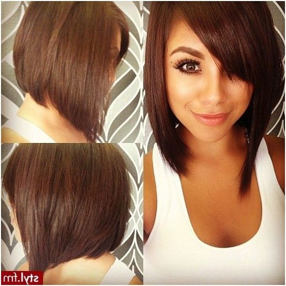 50 Adorable Asymmetrical Bob Hairstyles 2018 – Hottest Bob For Classic Bob Hairstyles With Side Part (View 21 of 25)