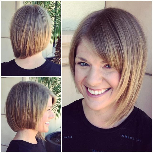 50 Adorable Asymmetrical Bob Hairstyles 2018 – Hottest Bob Within Classic Bob Hairstyles With Side Part (View 12 of 25)