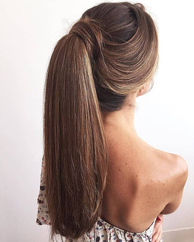 50 Best Ponytail Hairstyles To Update Your Updo In 2019 Throughout High Long Ponytail Hairstyles With Hair Wrap (View 20 of 25)