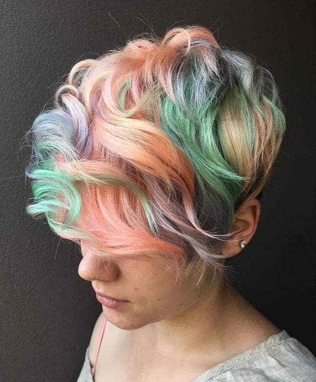 50 Bold Curly Pixie Cut Ideas To Transform Your Style In 2019 In Pastel Pixie Haircuts With Curly Bangs (View 25 of 25)
