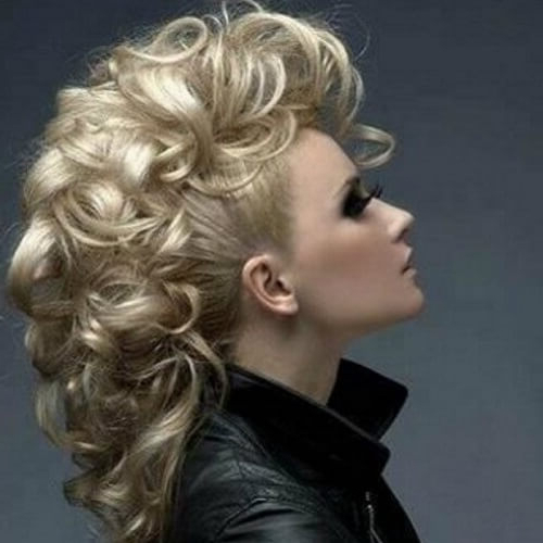 50 Brilliant Faux Hawk Styling Ideas To Try Out | Hair Inside Long Luscious Mohawk Haircuts For Curly Hair (View 23 of 25)