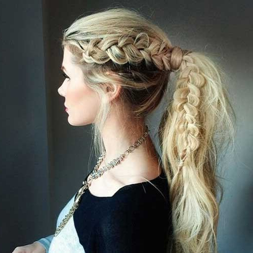 50 Brilliant Faux Hawk Styling Ideas To Try Out | Hair With Braided Faux Mohawk Hairstyles For Women (View 11 of 25)