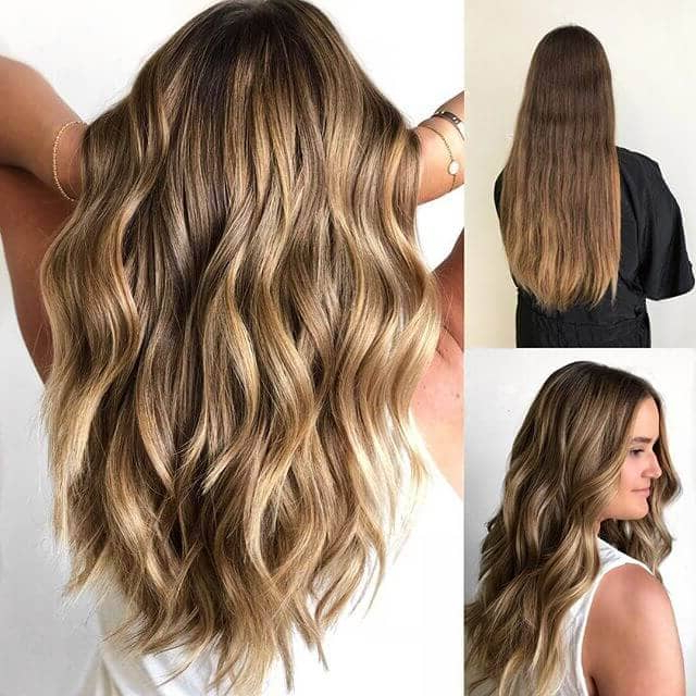 50 Brilliant Wavy Hair Ideas For Contemporary Cuts In 2019 With Regard To Long Waves Hairstyles With Subtle Highlights (View 3 of 25)