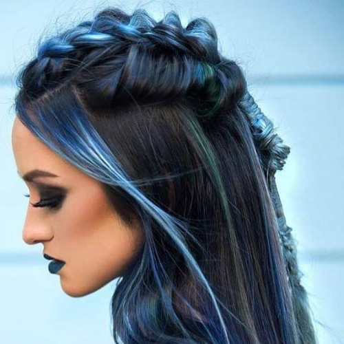 50 Fantastic Braid Hairstyles For Long Hair | All Women For Blue Braided Festival Hairstyles (View 19 of 25)