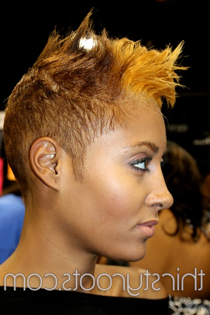 50 Hot Black Hairstyles Pertaining To Medium Length Blonde Mohawk Hairstyles (View 25 of 25)