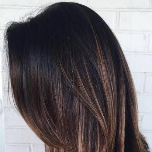 50 Intense Dark Hair With Caramel Highlights Ideas   All Intended For Long Waves Hairstyles With Subtle Highlights (View 20 of 25)