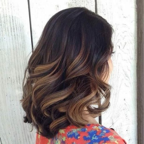 50 Intense Dark Hair With Caramel Highlights Ideas   All Regarding Long Waves Hairstyles With Subtle Highlights (View 23 of 25)