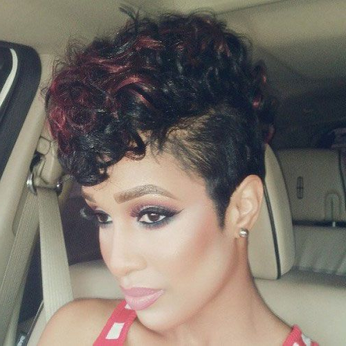 Featured Photo of Black & Red Curls Mohawk Hairstyles