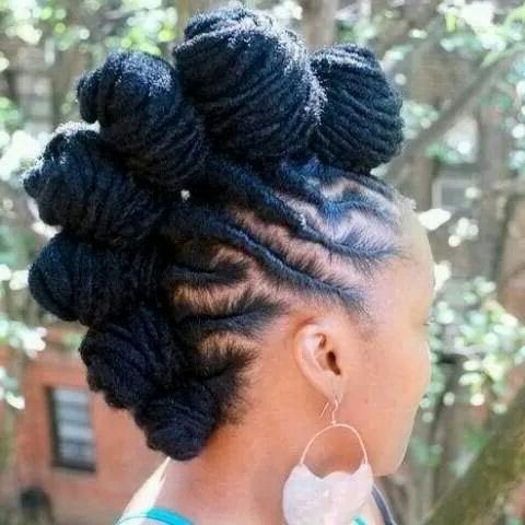 50 Mohawk Hairstyles For Black Women – Page 30 – Foliver Blog Intended For Braided Bantu Knots Mohawk Hairstyles (View 15 of 25)