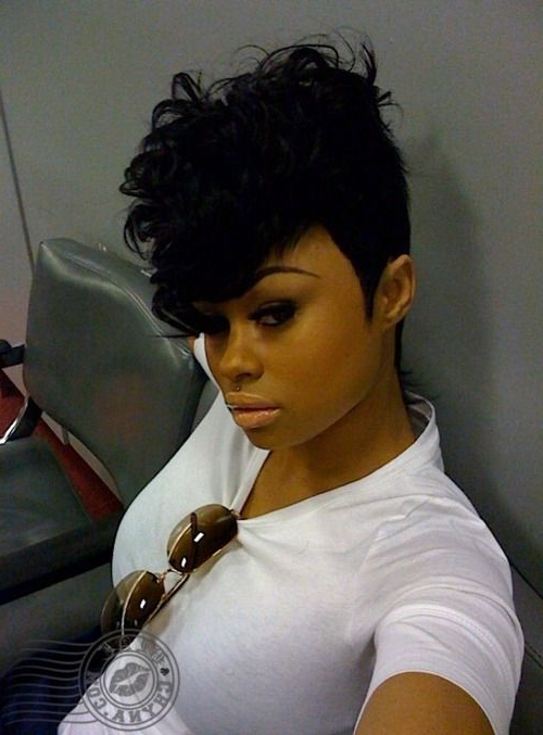 50 Mohawk Hairstyles For Black Women | Sassy Hair, Mohawk Pertaining To Black & Red Curls Mohawk Hairstyles (View 6 of 25)