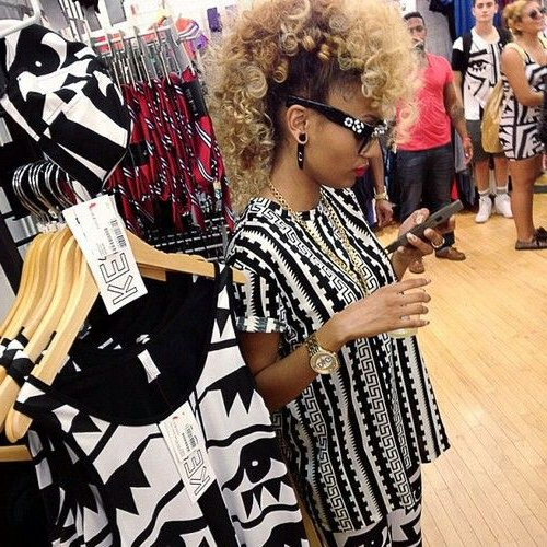 50 Mohawk Hairstyles For Black Women   Stayglam Hairstyles Within Big Curly Updo Mohawk Hairstyles (View 4 of 25)