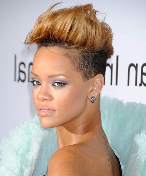 50 Mohawk Hairstyles For Black Women | Stayglam Regarding Medium Length Blonde Mohawk Hairstyles (View 19 of 25)