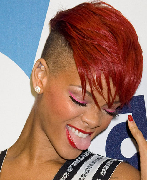 50 Mohawk Hairstyles For Black Women | Stayglam Within Black & Red Curls Mohawk Hairstyles (View 8 of 25)