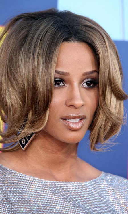 50 Most Popular Bob Shaped Hairstyles Intended For Chin Length Bob Hairstyles With Middle Part (View 13 of 25)