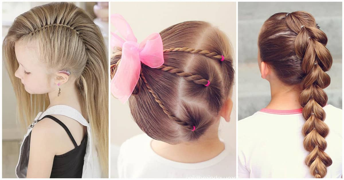 50 Pretty Perfect Cute Hairstyles For Little Girls To Show Within Braided Bun Hairstyles With Puffy Crown (View 20 of 25)