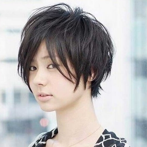 50 Remarkable Short Haircuts For Round Faces | Hair Motive For Bold Asian Pixie Haircuts (View 8 of 25)