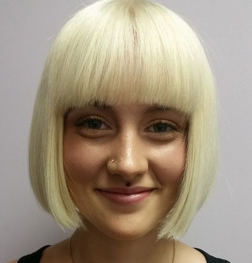 50 Spectacular Blunt Bob Hairstyles   Blunt Bob Hairstyles Regarding Blonde Blunt Haircuts Bob With Bangs (View 2 of 25)