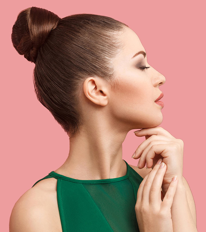 50 Stunning Bun Hairstyles You Need To Check Out Now! With High Bun With Twisted Hairstyles Wrap And Graduated Side Bang (View 16 of 25)