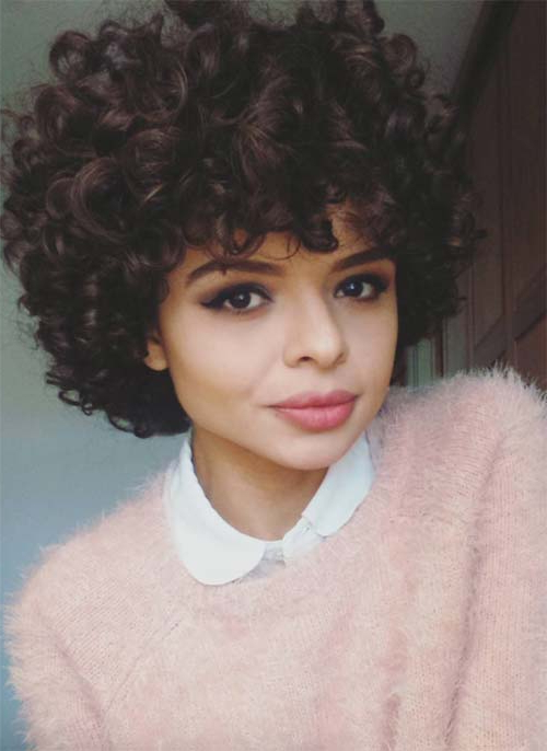 51 Lovely Short Curly Hairstyles: Tips For Healthy Short Curls With Pixie Haircuts With Large Curls (View 17 of 25)