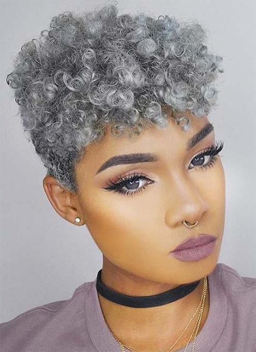 51 Lovely Short Curly Hairstyles: Tips For Healthy Short Curls With Regard To Pixie Haircuts With Tight Curls (View 7 of 25)