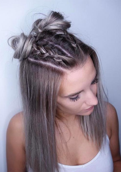 51 Medium Hairstyles & Shoulder Length Haircuts For Women In Within Braided Shoulder Length Hairstyles (View 8 of 25)