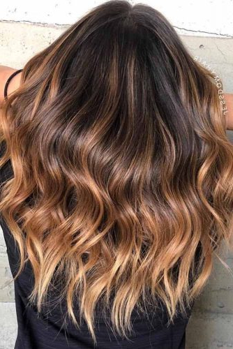53 Hottest Brown Ombre Hair Ideas With Black To Light Brown Ombre Waves Hairstyles (View 2 of 25)