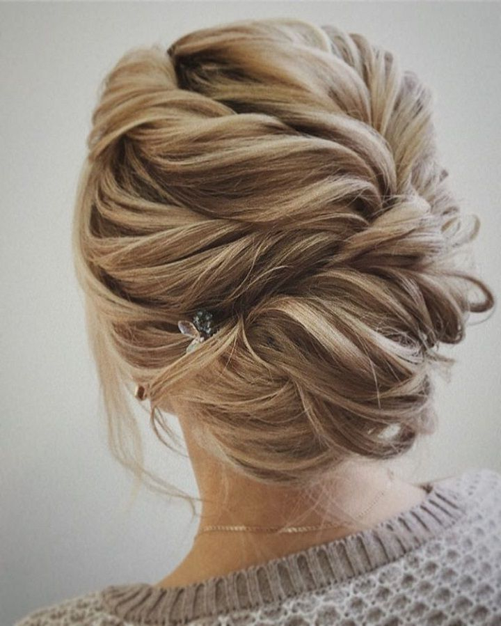 54 Simple Updos Wedding Hairstyles For Brides | Hair Styles In Angular Updo Hairstyles With Waves And Texture (View 21 of 25)