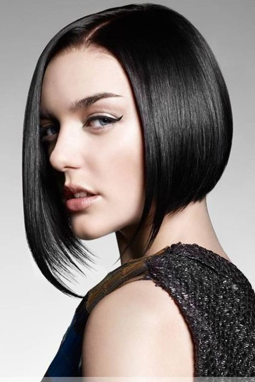 55 Cute Bob Hairstyles For 2017: Find Your Look For Asymmetrical Bob Asian Hairstyles (View 25 of 25)