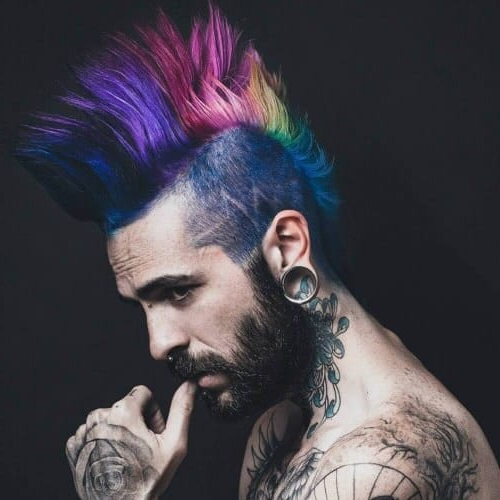 55 Edgy Or Sleek Mohawk Hairstyles For Men – Men Hairstyles Inside Hot Red Mohawk Hairstyles (View 22 of 25)