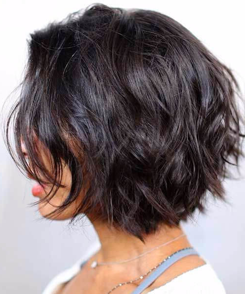 55 Ravishing Short Hairstyles For Ladies With Thick Hair With Layered Short Bob Haircuts (View 16 of 25)