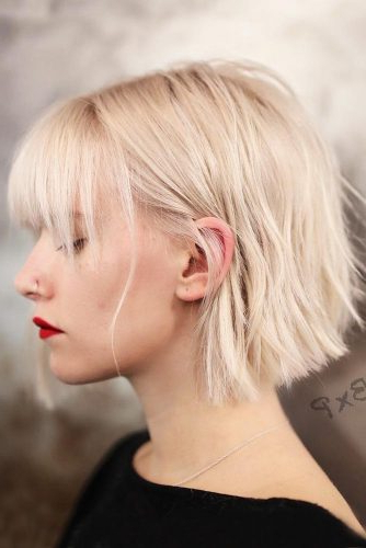 55 Versatile Medium Bob Haircuts To Try   Lovehairstyles For Blonde Blunt Haircuts Bob With Bangs (View 8 of 25)