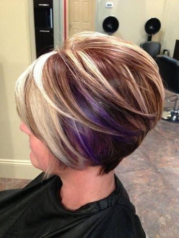 56 Stacked Bob Hairstyle For The Style Year 2019 – Style Easily In Highlighted Short Bob Haircuts (View 10 of 25)