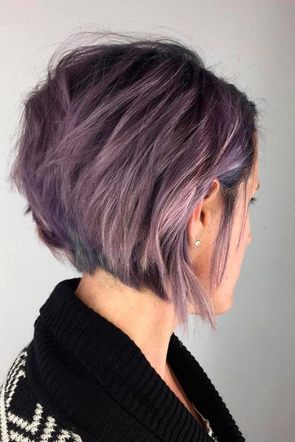 56 Stacked Bob Hairstyle For The Style Year 2019 – Style Easily With Regard To Pink Asymmetrical A Line Bob Hairstyles (View 13 of 25)
