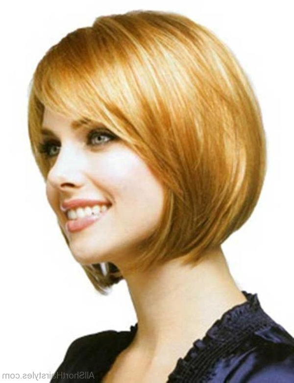 57 Cool Short Bob Hairstyle With Side Swept Bands Regarding Hort Bob Haircuts With Bangs (View 21 of 25)