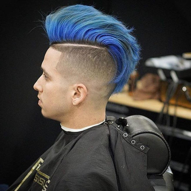 60 Best Summer Hair Colors For Men – [Add The Vibe In 2019] Within Blue Hair Mohawk Hairstyles (View 20 of 25)