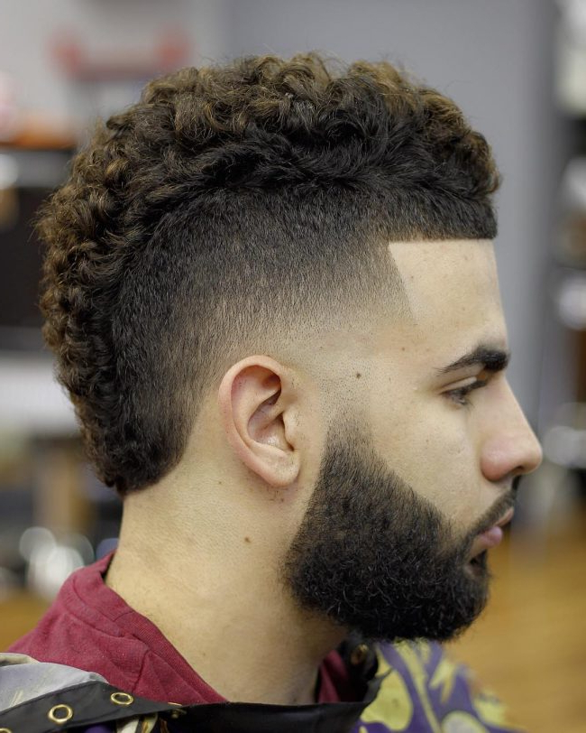 60 Stunning Curly Mohawk Designs – [2019 Bad Boy Style] With Regard To Long Curled Mohawk Haircuts (View 15 of 25)