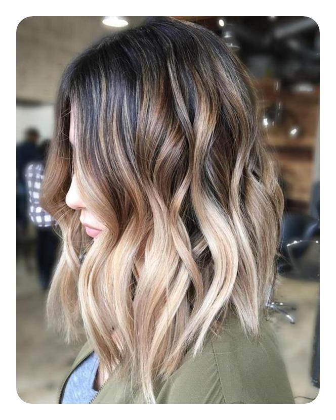 66 Beautiful Long Bob Hairstyles With Layers For 2019 Intended For Wavy Long Bob Hairstyles With Bangs (View 8 of 25)