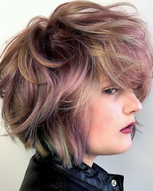 66 Flattering Short Hairstyles For Thick Hair (2019 Pics) Pertaining To Edgy Textured Bob Hairstyles (View 16 of 25)