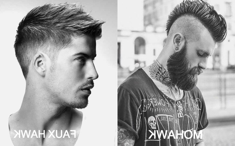 7 Best Faux Hawk Haircuts For Men In 2019 – The Trend Spotter With Regard To Hot Red Mohawk Hairstyles (View 23 of 25)