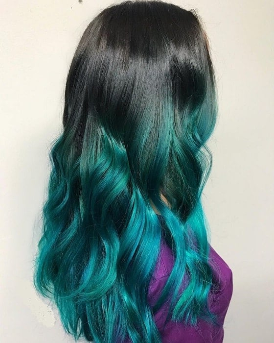 7 Charismatic Turquoise Ombre Hairstyles For Women inside Turquoise Side-Parted Mohawk Hairstyles