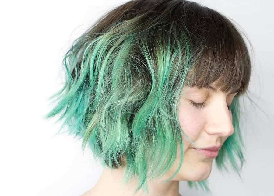 7 Charismatic Turquoise Ombre Hairstyles For Women throughout Turquoise Side-Parted Mohawk Hairstyles