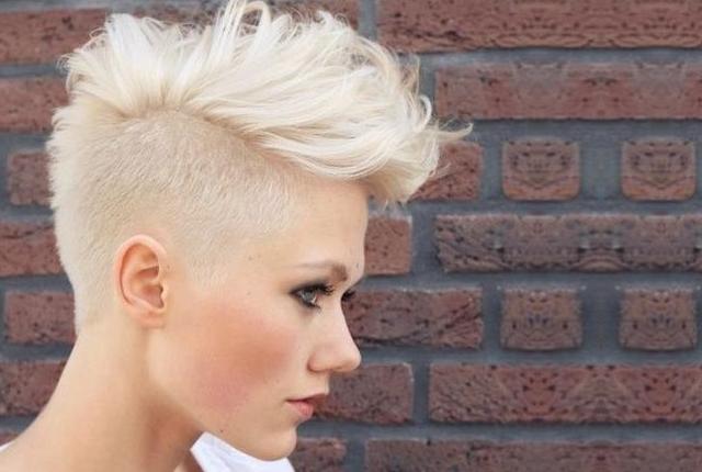 7 Stylish Faux Hawk Hairstyle For Women   Womensok throughout Classy Faux Mohawk Haircuts For Women