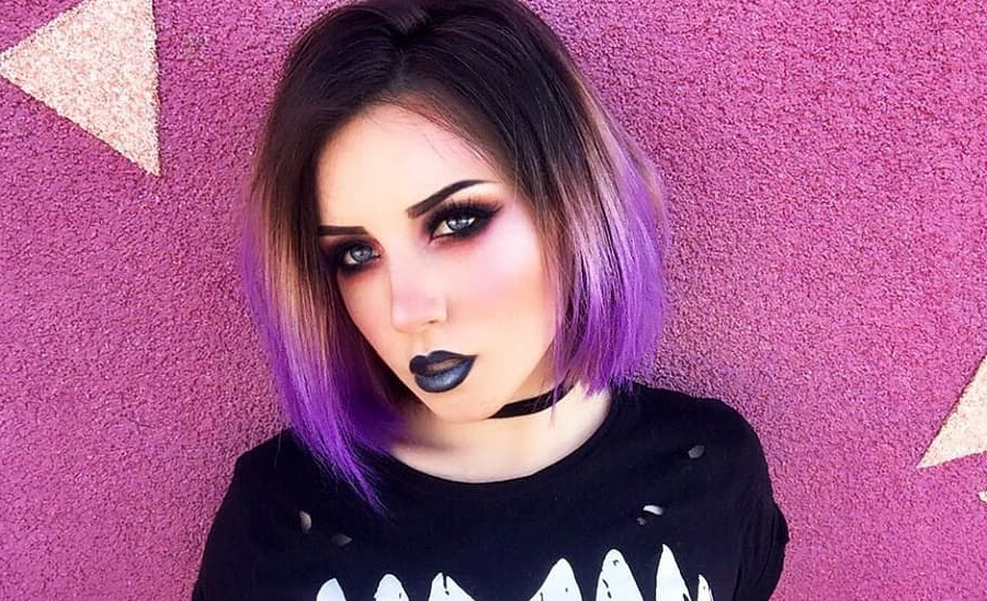 7 Superb Purple Ombre Hairstyle For Short Haired Divas in Ravishing Smoky Purple Ombre Hairstyles