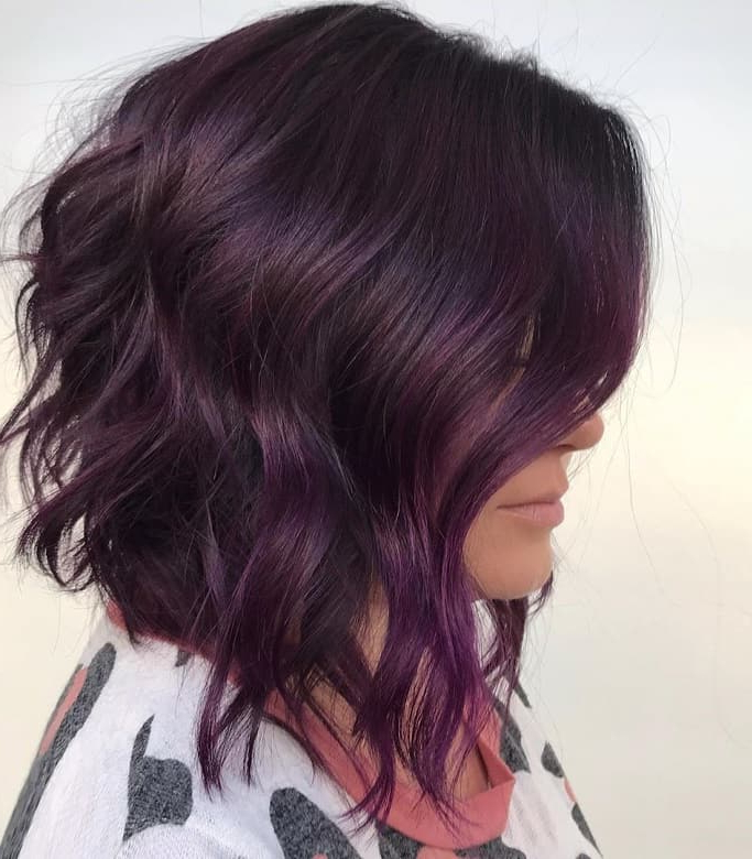 7 Superb Purple Ombre Hairstyle For Short Haired Divas with regard to Ravishing Smoky Purple Ombre Hairstyles