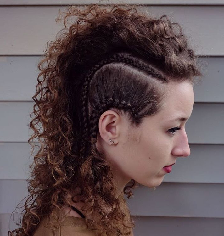 70 Most Gorgeous Mohawk Hairstyles Of Nowadays | Curly Hair in Faux Mohawk Hairstyles With Springy Curls