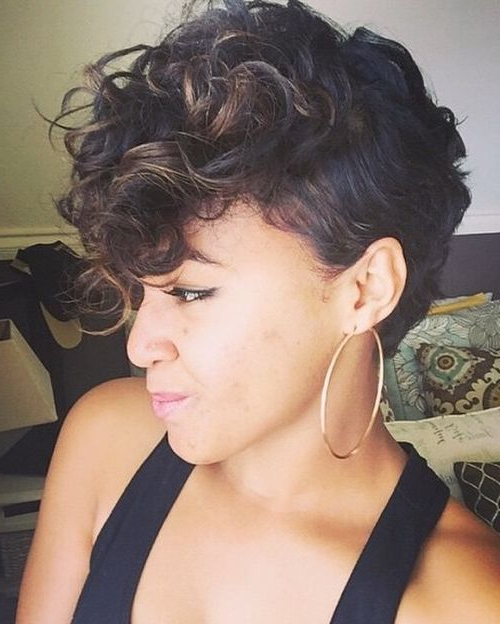 70 Most Gorgeous Mohawk Hairstyles Of Nowadays In 2019 with Feminine Curls With Mohawk Haircuts