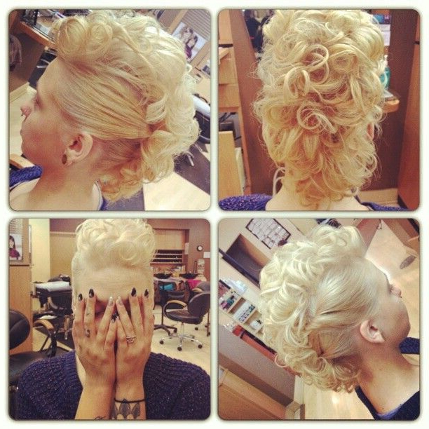 70 Most Gorgeous Mohawk Hairstyles Of Nowadays | Mohawk in Elegant Curly Mohawk Updo Hairstyles