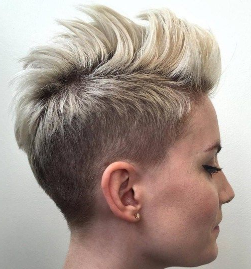 70 Short Shaggy, Spiky, Edgy Pixie Cuts And Hairstyles pertaining to Classic Blonde Mohawk Hairstyles For Women
